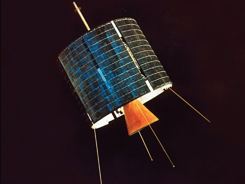 Intelsat I, the first satellite that was insured